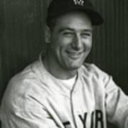 Lou Gehrig Dugout Portrait Poster
