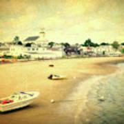 Low Tide Provincetown Cape Cod Massachusetts Shoreline Textured Poster
