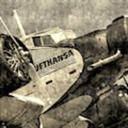 Lufthansa Junkers Ju 52 Vintage Poster