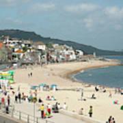 Lyme Regis Beach Poster