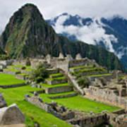 Machu Picchu In Peru. Unesco World Poster