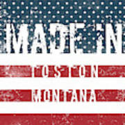 Made In Toston, Montana #toston Poster