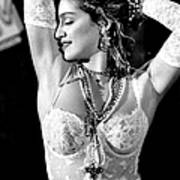 Madonna During A Performance At Mtv Poster