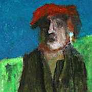 Man In A Red Hat Poster