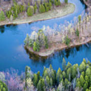 Manistee River Bend From Above Poster