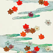 Maple Leaf - Japanese Traditional Pattern Design Poster