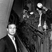 Marlon Brando In Paris 1957 Poster