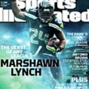 Marshawn Lynch 2015 Nfl Fantasy Football Preview Issue Sports Illustrated Cover Poster