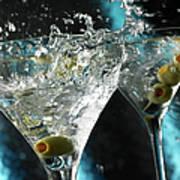 Martini Wild Splash Poster