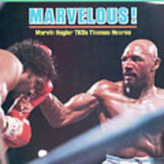 Marvelous Marvin Hagler, 1985 Wbc Wba Ibf Middleweight Title Sports Illustrated Cover Poster