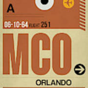 Mco Orlando Luggage Tag I Poster