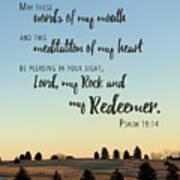 Meditation Of My Heart Poster