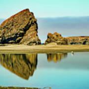Meyers Beach Reflections - Oregon  Poster