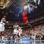 Michael Jordan Attempts A Dunk Poster