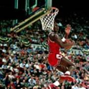 Michael Jordan Competes In The Nba All Poster