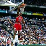 Michael Jordan Dunks The Ball Poster