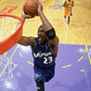 Michael Jordan Goes Up For The Dunk Poster