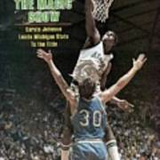 Michigan State Magic Johnson, 1979 Ncaa National Sports Illustrated Cover Poster
