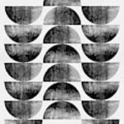 Mid Century Half Moons Poster