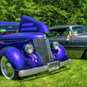 Mild Customs 1936 Ford And 1953 Chevy Poster