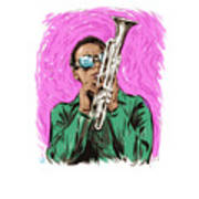 Miles Davis - An Illustration By Paul Cemmick Poster