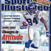 Minnesota Vikings Randy Moss, 2002 Nfl Football Preview Sports Illustrated Cover Poster