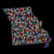 Missouri Map - 2 Poster