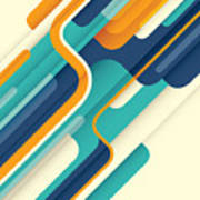 Modern Abstract Illustration In Color Poster