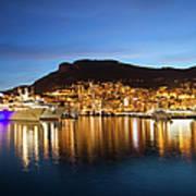 Monaco At Twilight Poster