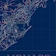 Monaco Blueprint City Map Poster