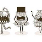 Monster Illustrationvector Poster