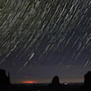 Monumental Star Trails Poster