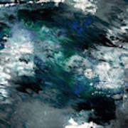 Moonlight Ocean- Abstract Art By Linda Woods Poster
