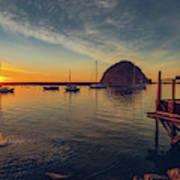 Morro Bay Harbor Sunset Poster