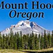 Mount Hood Oregon In Fall Poster