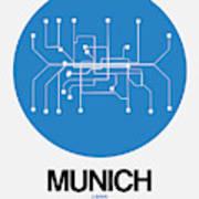 Munich Blue Subway Map Poster