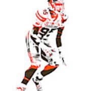 Myles Garrett Cleveland Browns Pixel Art 2 Poster