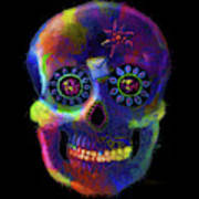 Mystico Sugarskull Of Letters Poster