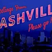 Nashville Postcard Poster