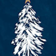 Navy And White Christmas Tree 3- Art By Linda Woods Poster