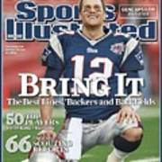 New England Patriots Qb Tom Brady, Super Bowl Xlii Sports Illustrated Cover Poster