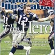 New England Patriots Qb Tom Brady, Super Bowl Xxxviii Sports Illustrated Cover Poster