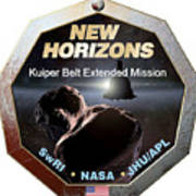 New Horizons Extended Mission Logo Poster