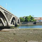 new road bridge across river Tweed at Berwick-upon-tweed Poster