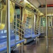 New York City Empty Subway Car Poster