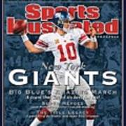 New York Giants Qb Eli Manning, Super Bowl Xlvi Champions Sports Illustrated Cover Poster