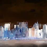 New York Skyline Illustration 1 Poster