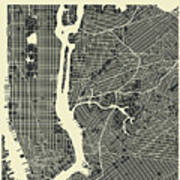 New York Map 3 Poster