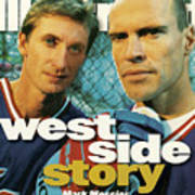 New York Rangers Mark Messier And Wayne Gretzky Sports Illustrated Cover Poster