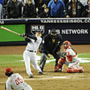 New York Yankees Hideki Matsui Hits Poster